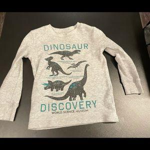 Long sleeve dinosaur 4T shirt.